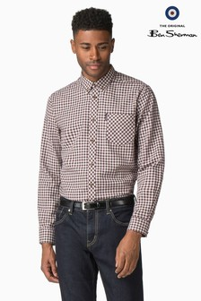 Ben Sherman Red Brushed Gingham Shirt