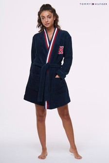 Tommy Hilfiger Blue Bath Robe
