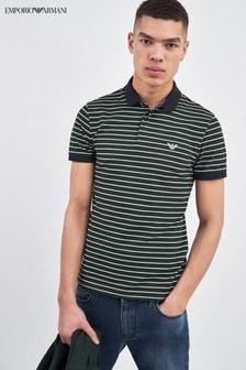 Emporio Armani Green Stripe Poloshirt