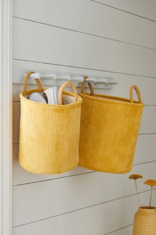 Set of 2 Cord Storage Baskets