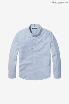 חולצה מכופתרת מאריג נמתח של Tommy Hilfiger, בצבע כחול