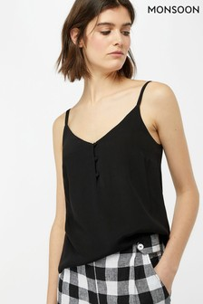 Monsoon Ladies Black Mila Button Cami