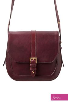 Joules Brown Leather Saddle Bag
