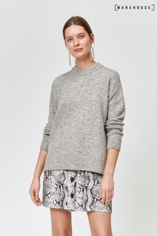 Warehouse Light Grey Nep Cosy Jumper