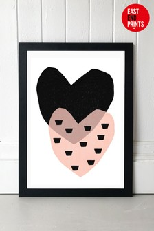 Two Hearts by Seventy Tree Framed Print