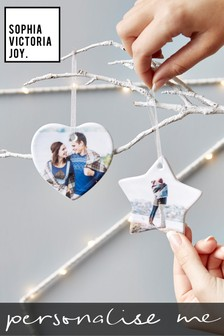Personalised Photo Star Hanging Decoration by Sophia Victoria Joy