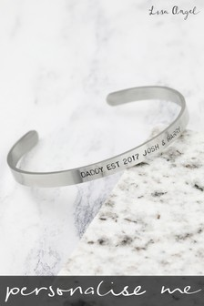 Personalised Hand Shaped Men's Bar Bracelet by Lisa Angel