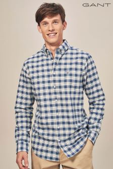 GANT Persain Blue Heather Oxford Plaid Shirt