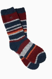 FatFace Blue Multi Stripe Idaho Socks