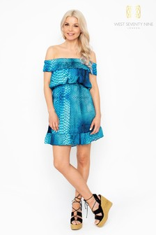 West Seventy Nine Ariel Glisten Off The Shoulder Dress