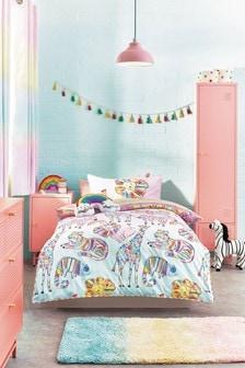 Rainbow Safari Reversible Duvet Cover And Pillowcase Set