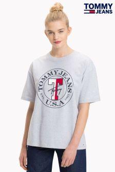 Tommy Jeans Grey Boyfriend Logo Tee