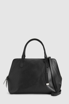 Leather Large Formal Kettle Bag