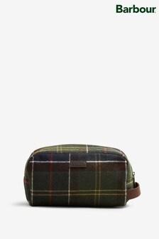 Barbour® Tartan Wool Olive Wash Bag