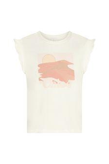 Chloe Kids Girls Cream Cotton T-Shirt