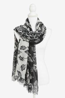 Floral Sequin Lightweight Scarf