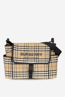 Burberry Kids Baby Beige Changing Bag