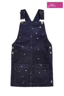 Joules Blue Print Cord Pinafore