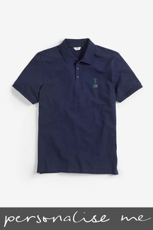 Personalised Navy Poloshirt