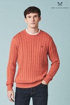 Crew Clothing Orange Regatta Cable Crew Sweater