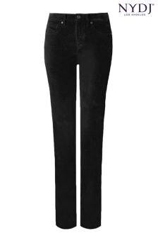 NYDJ® Black Sheri Slim Leg Velvet Jean