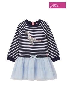 Joules Blue Hettie Layered Sweater Dress