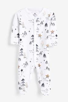 Christmas Print Sleepsuit (0mths-2yrs)