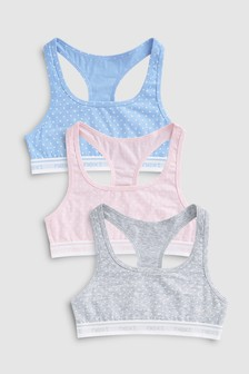 Spot Racer Back Crop Top Three Pack (Older)