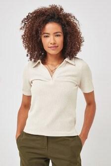 Short Sleeve Cosy Polo Top