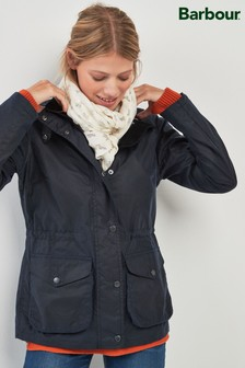 Barbour® Navy Fleetwood Waxed Jacket
