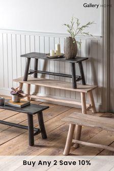 Alberta Rustic Grey Bench 110mm By Hudson Living