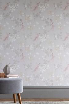 Paste The Wall Glam Bird Wallpaper