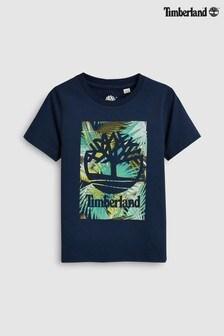 Timberland® Navy Floral Logo T-Shirt