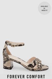 Sandales Forever Comfort à brides croisées et talon carré