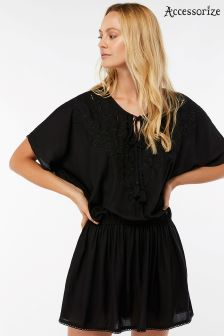 Accessorize Black Kerina Kaftan