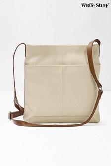White Stuff White Issy Leather Cross Body Bag