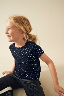 Sparkle Velour T-Shirt (3-16yrs)