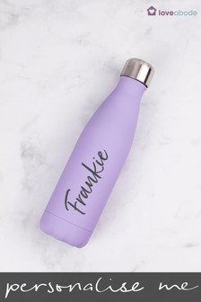 Personalised Lilac Water Bottle by Loveabode