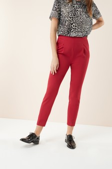 High Waisted Pleat Trousers