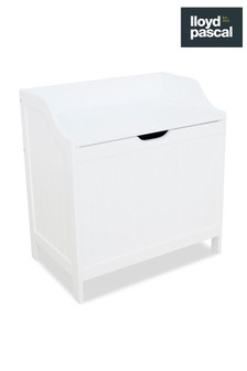 Lloyd Pascal White Laundry Hamper
