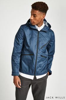 Jack Wills Navy Winton Heathered Nylon Anorak