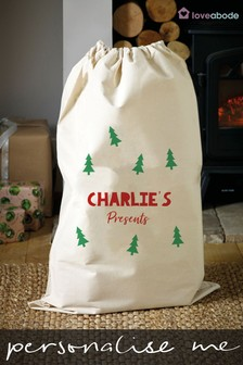 Personalised Christmas Tree Sack by Loveabode