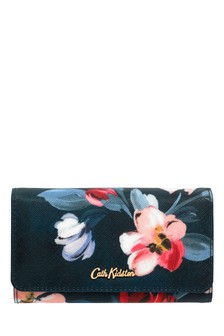 Cath Kidston® Blue Paintbox Flowers Medium Foldover Wallet
