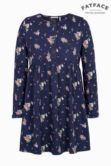FatFace Blue Grace Flower Print Dress