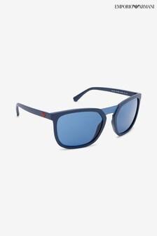Emporio Armani Matte Blue Sunglasses