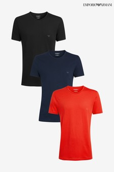 Emporio Armani Black/Navy/Red T-Shirts Three Pack