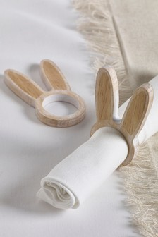 Set of 2 Bunny Napkin Rings
