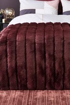 Cut Faux Fur Throw