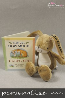 Personalised Guess How Much I Love You Book and Toy Set by Signature PG