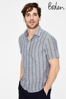Boden Blue Ashburton Short Sleeved Shirt